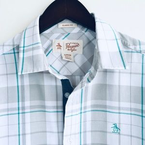 Original Penguin Casual Plaid Button Down